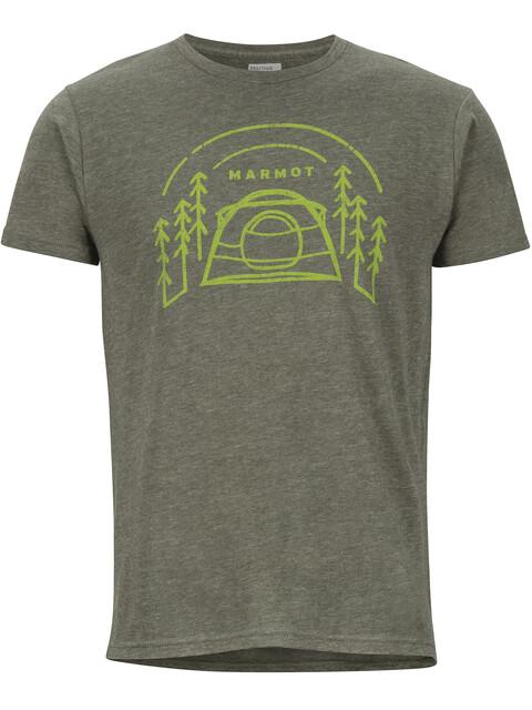 Marmot Camp Outdoor t-shirt Heren olijf